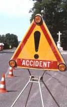 Accident de moto à Herrère