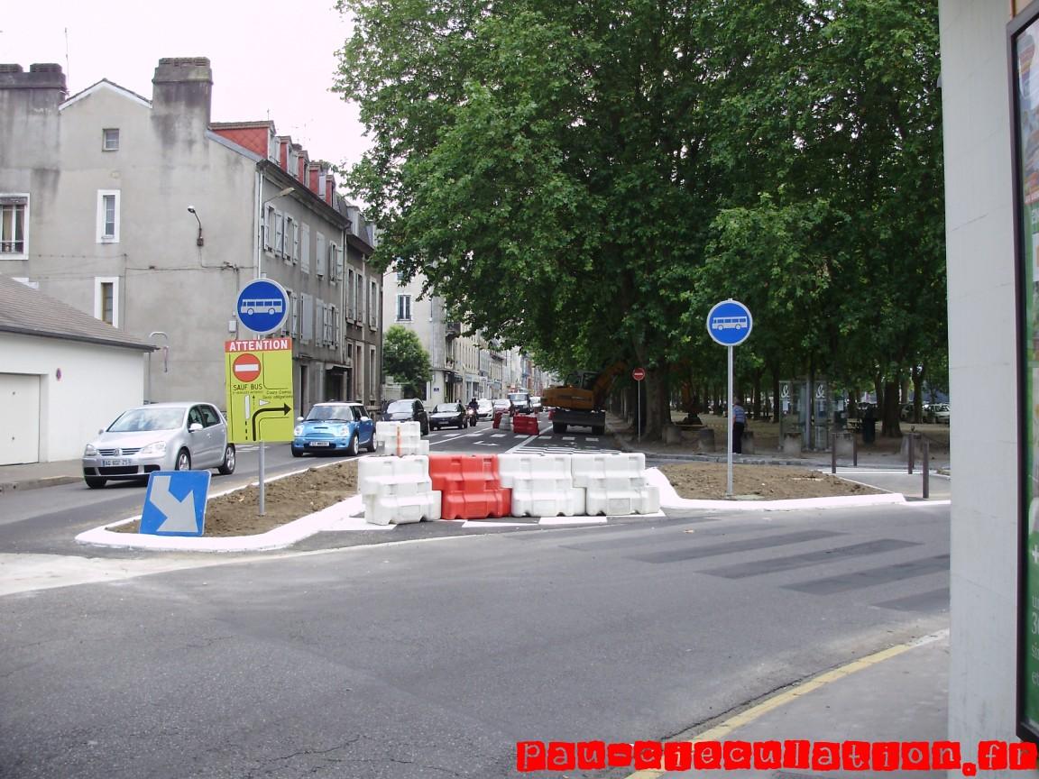 Photos des aménagements du nouveau réseau de bus sur Pau