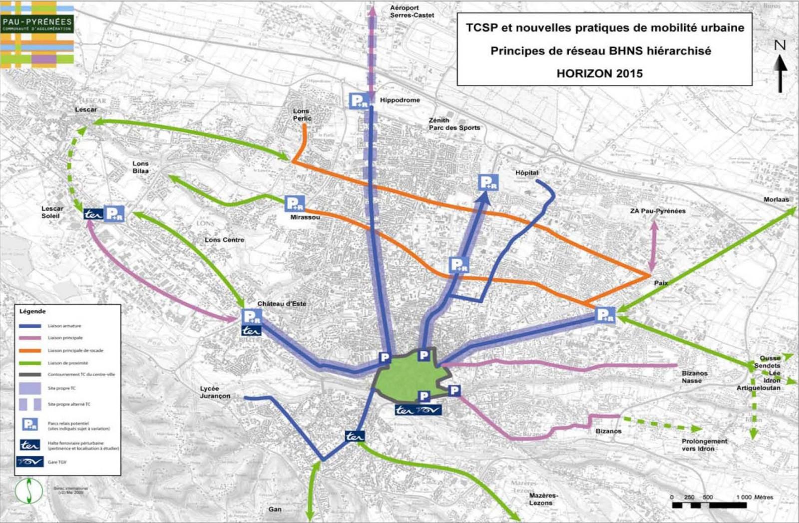 Principaux Parking+Relais attendus sur Pau & son agglomération