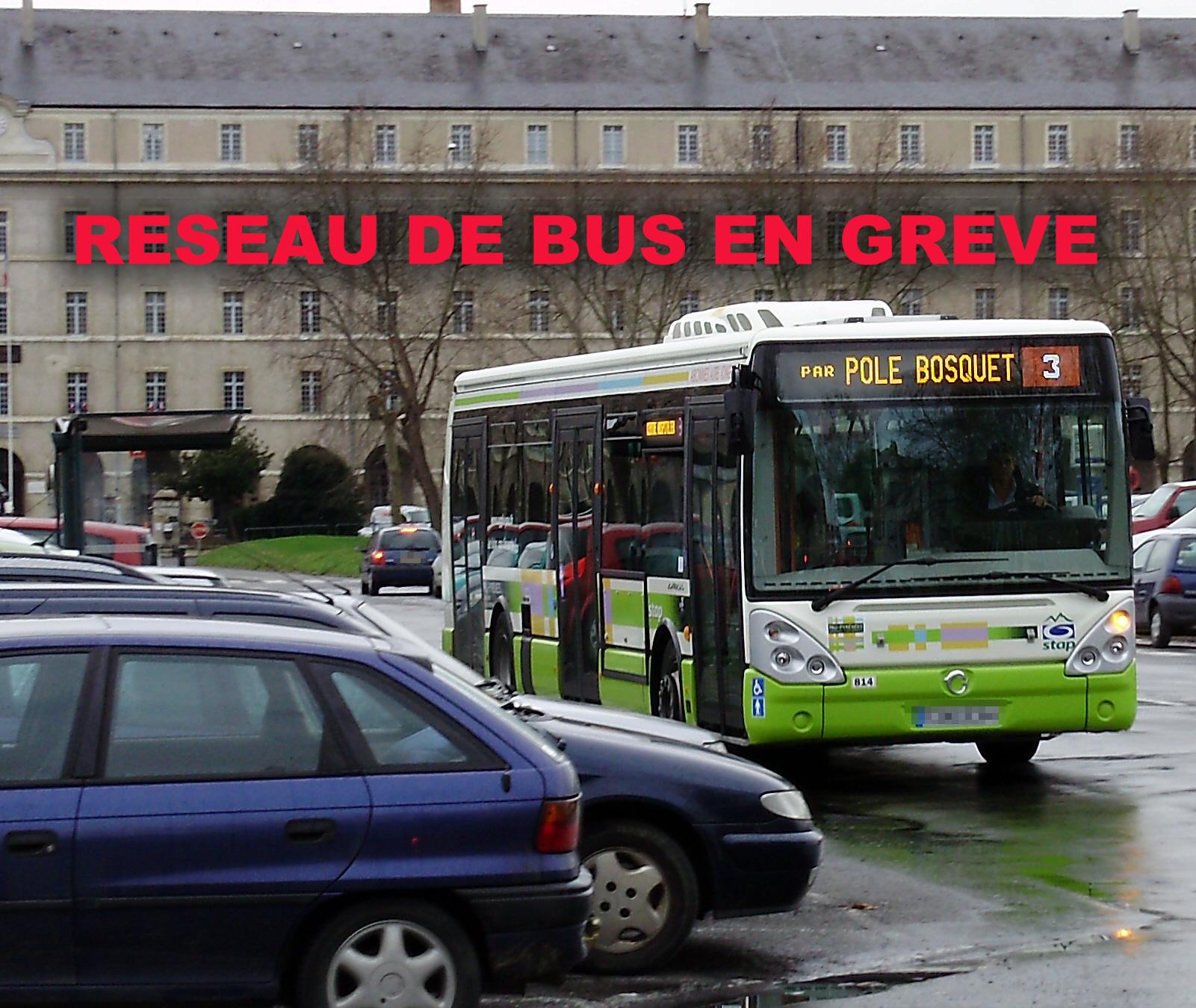 Réseau de Bus en Grève sur Pau