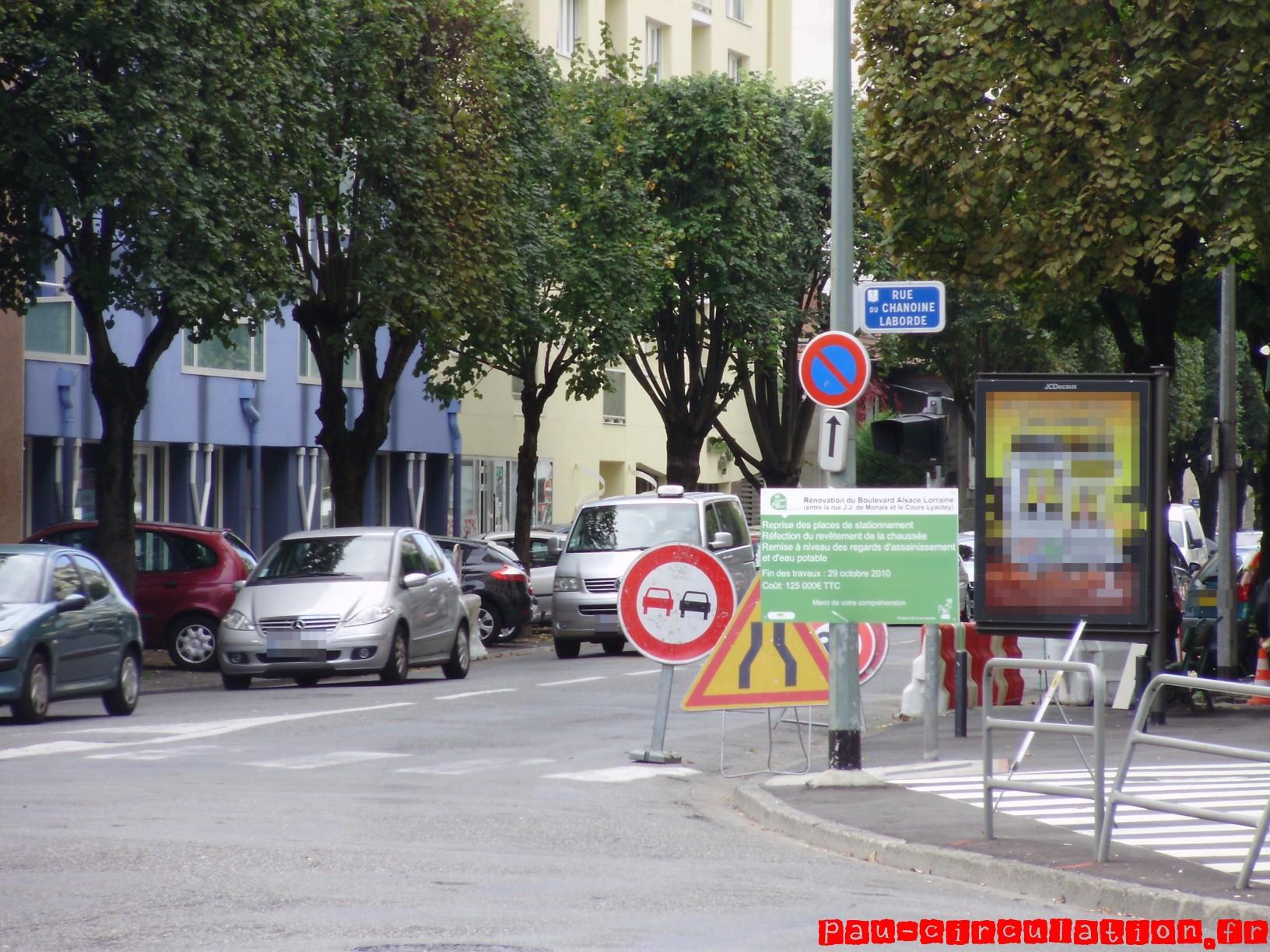 Travaux de Réaménagement du Boulevard Alsace-Lorraine