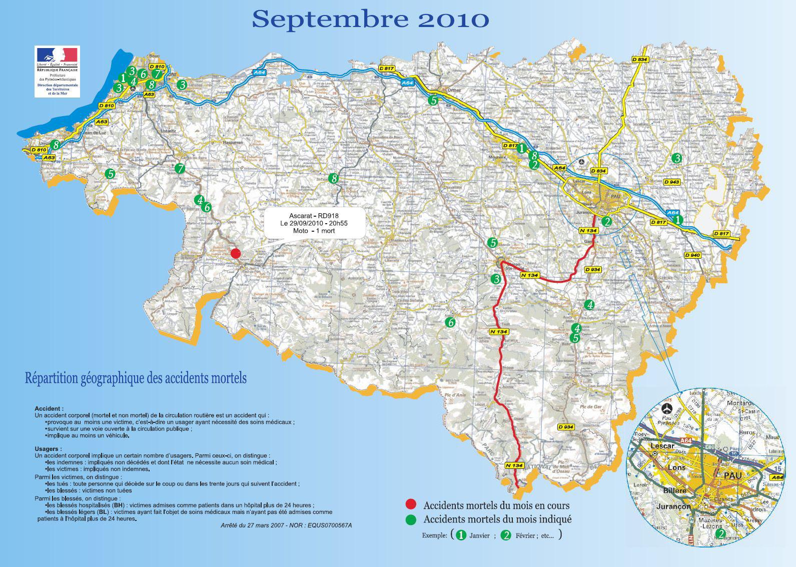 L'accidentologie dans les Pyrénées-Atlantiques