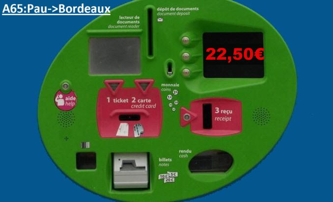 A65 Pau-Bordeaux: 22.50€