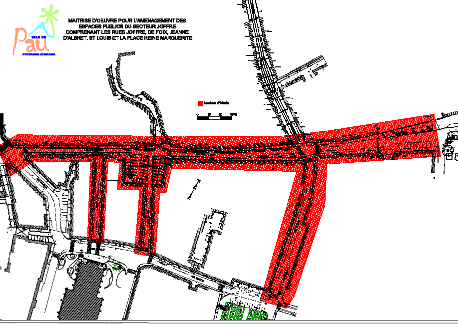 Futur Aménagement des rues Joffre, St Louis, Jeanne d'Albret et la Place Reine Marguerite