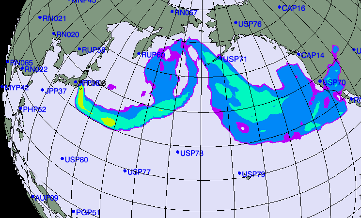 Déplacement du nuage radioactif vers l'Est