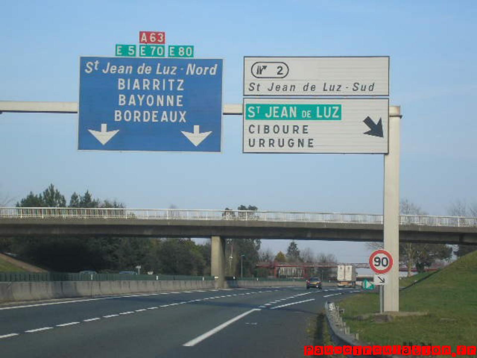 A63: Menaces pour la portion gratuite de délestage entre Saint Jean de Luz nord et sud