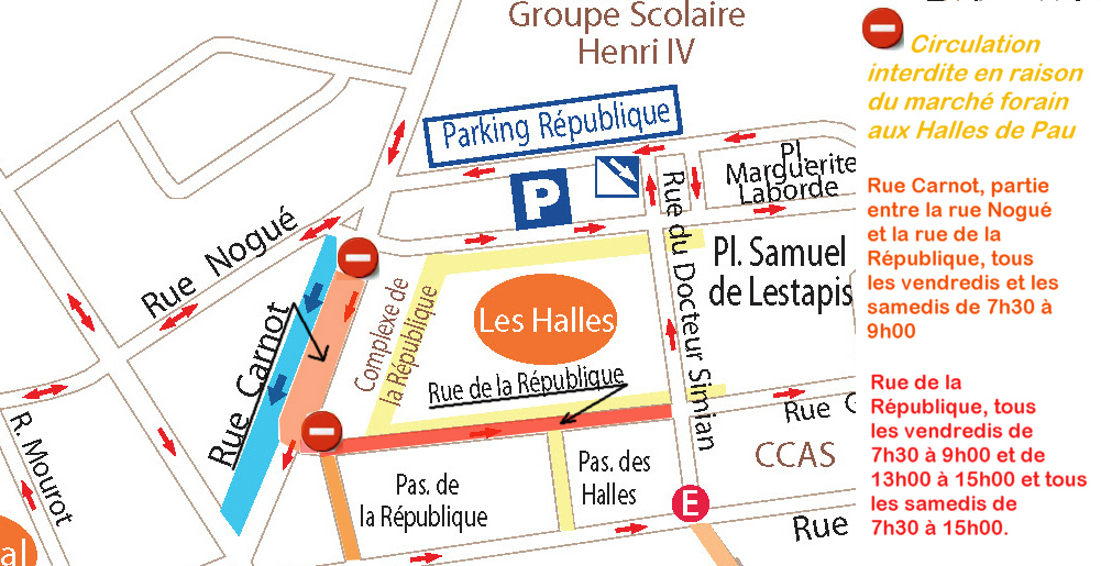 Marché Forain aux Halles de Pau