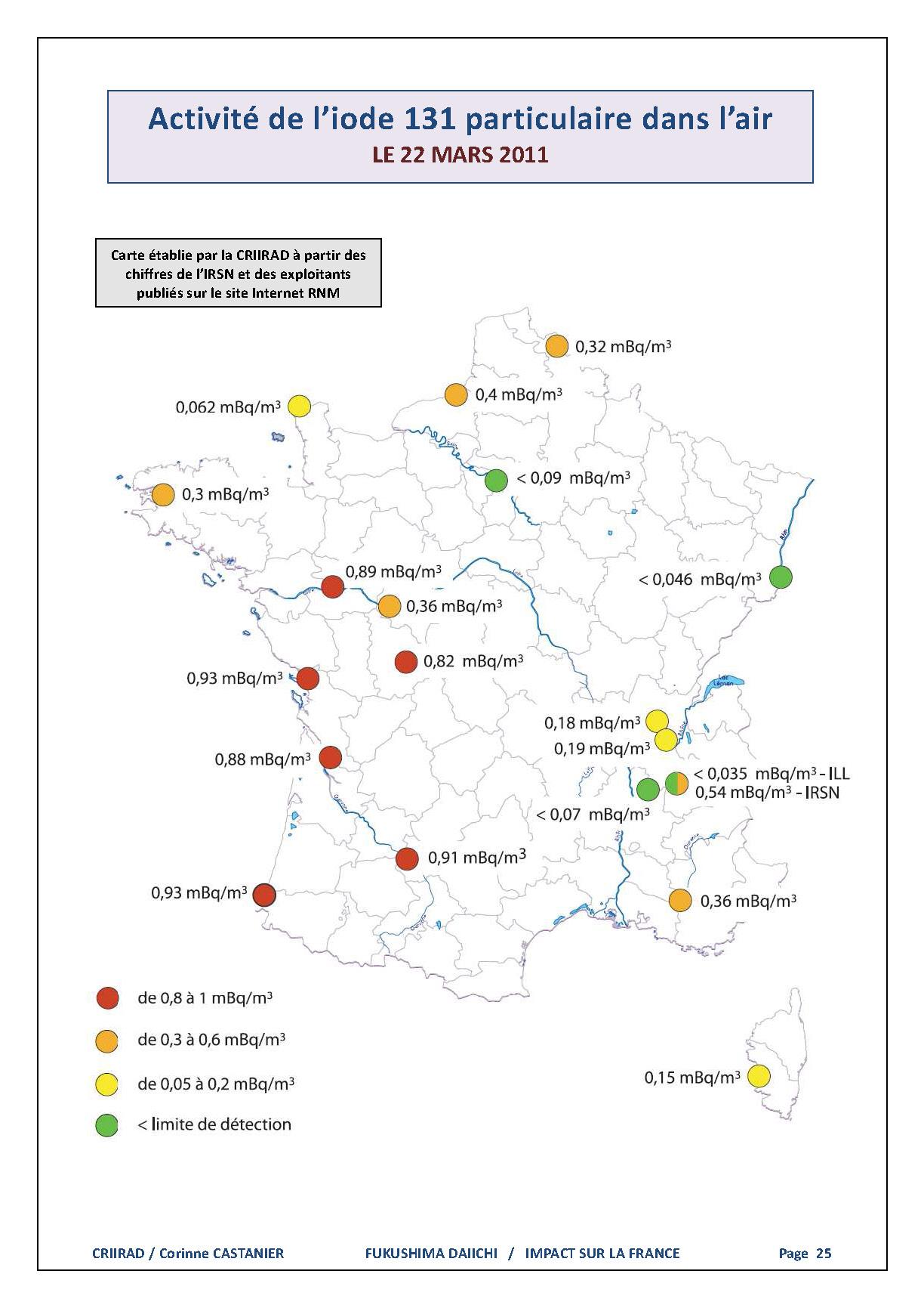 Important!! Annonce CRIIRAD sur la Radioactivité en France!!