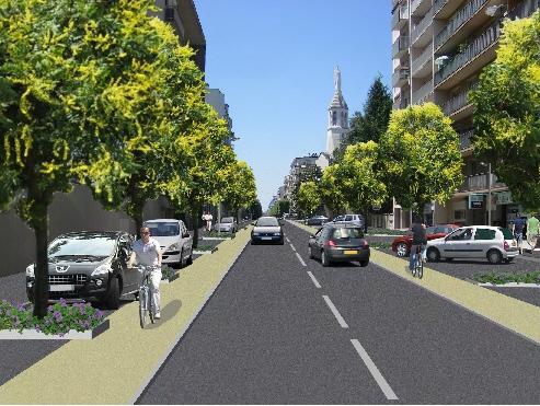 Réaménagement du Boulevard Alsace-Lorraine en 2012