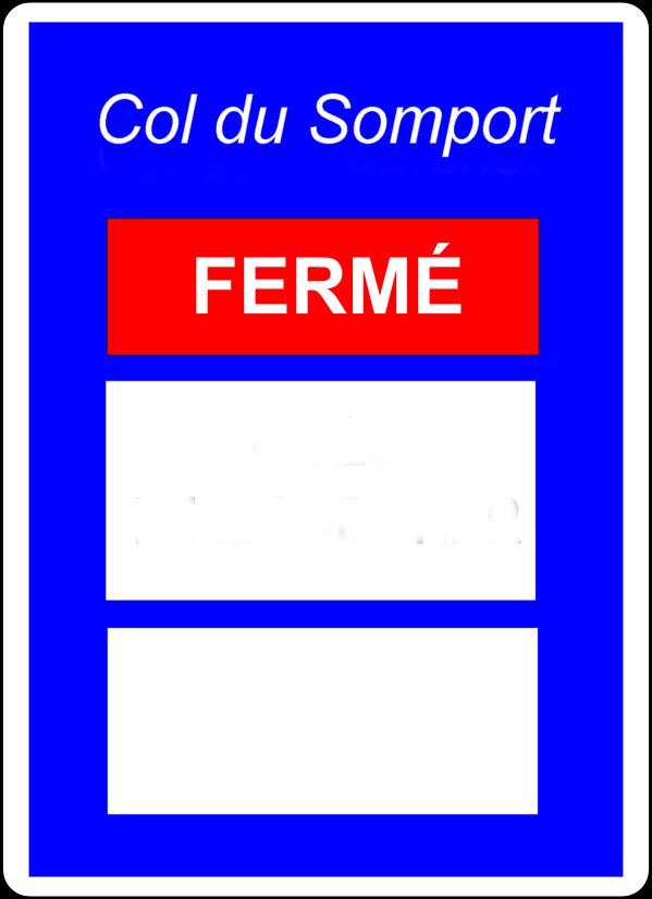 Fermeture du Col du Somport