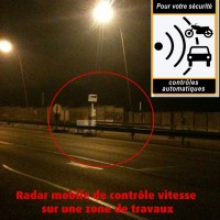 Radar Vitesse Mobile de Chantier