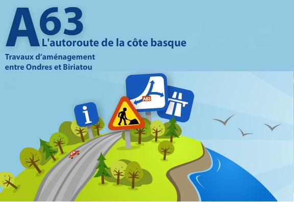 A63 rénove ses chaussées du 24 avril au 15 juin 2012