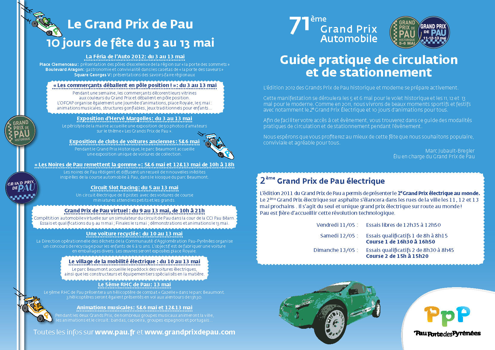 Guide public pour le 71e grand prix de Pau
