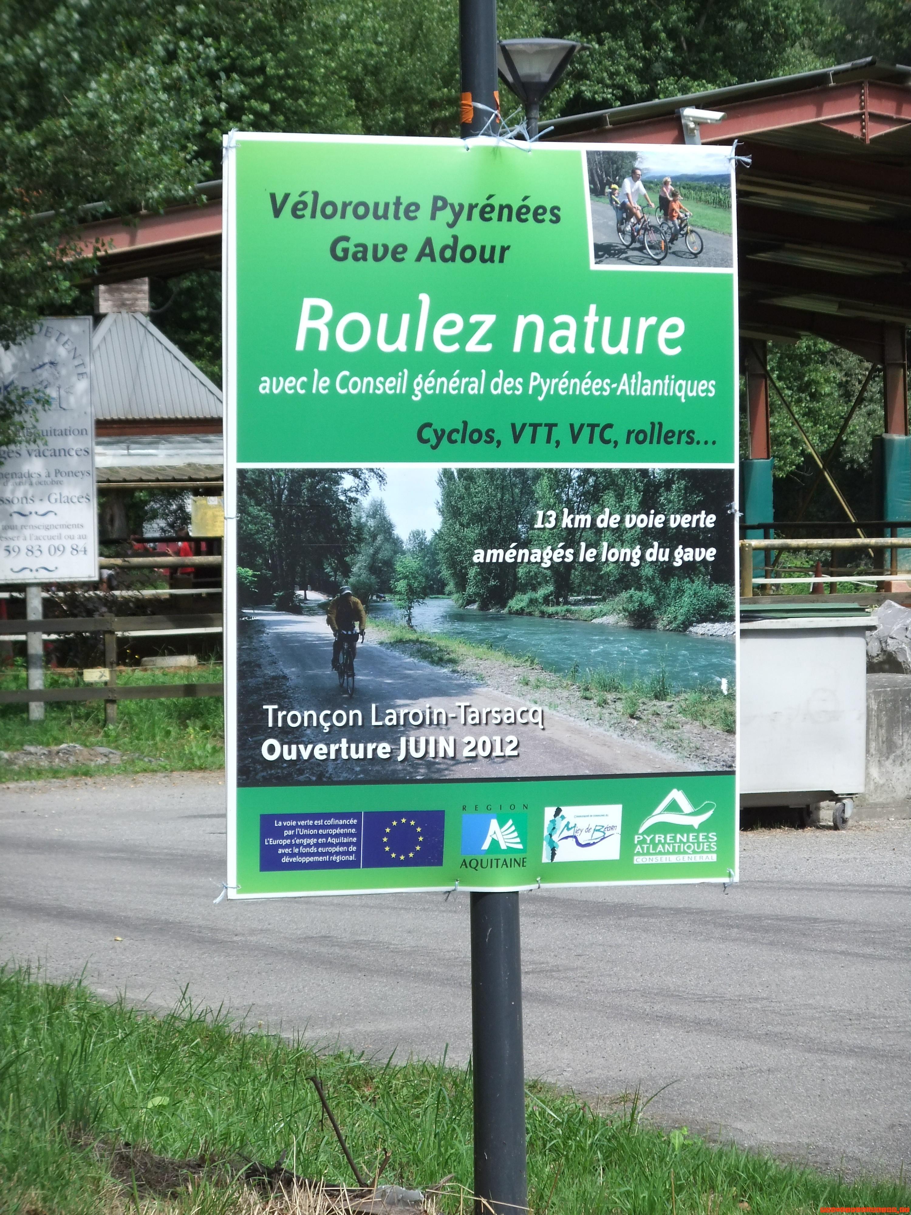 Inauguration de la section  « Laroin-Tarsacq » de la voie verte du Gave de Pau