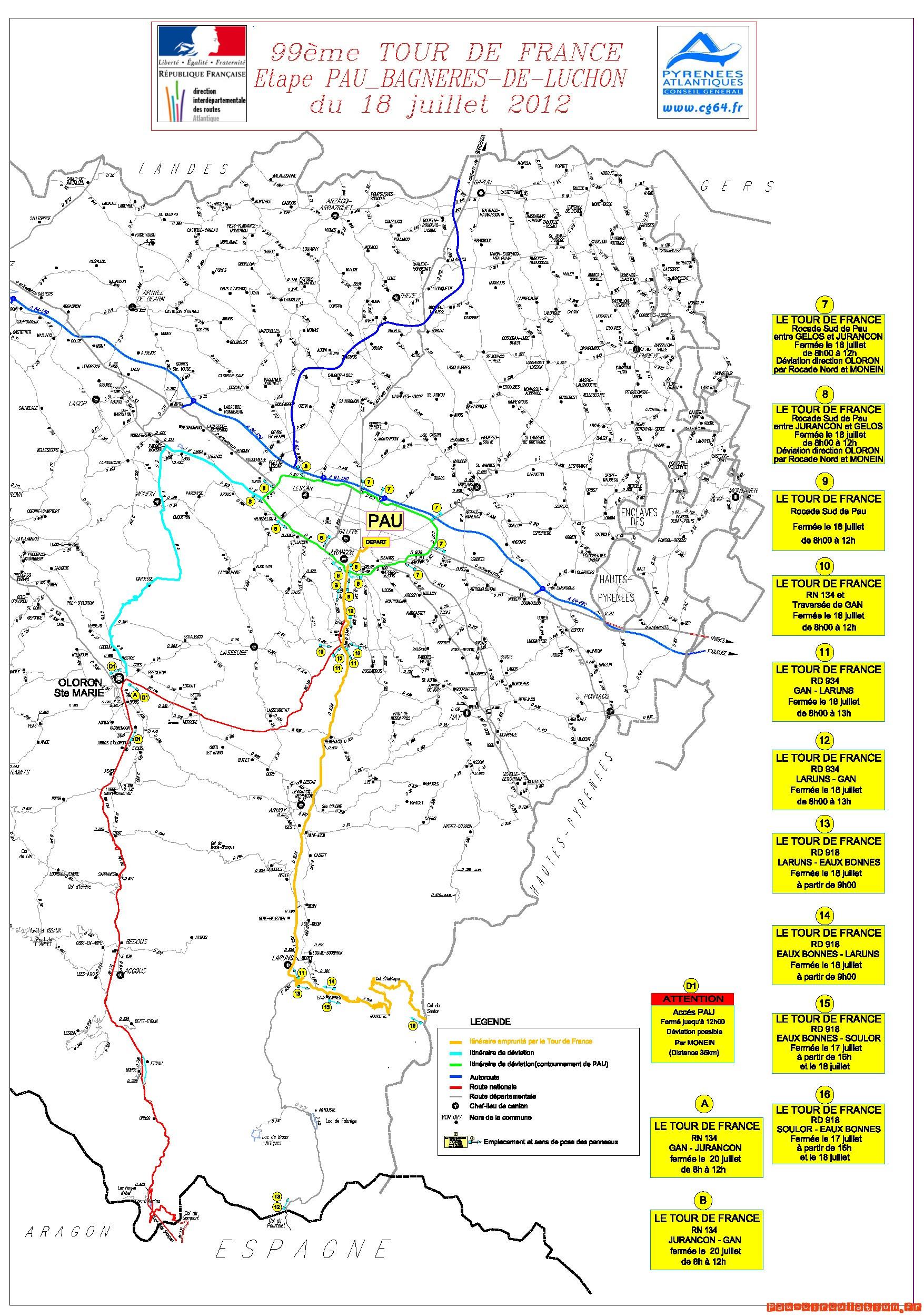 Départ du Tour de France 2012 à Pau