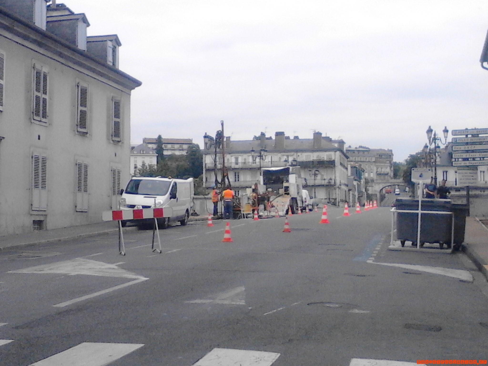 Sondages sous le pont du XIV Juillet à Pau