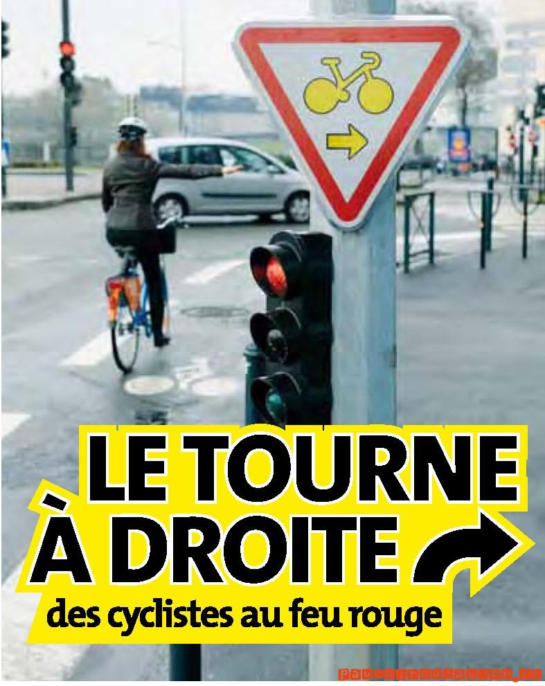 Vélos, tournez à droite…