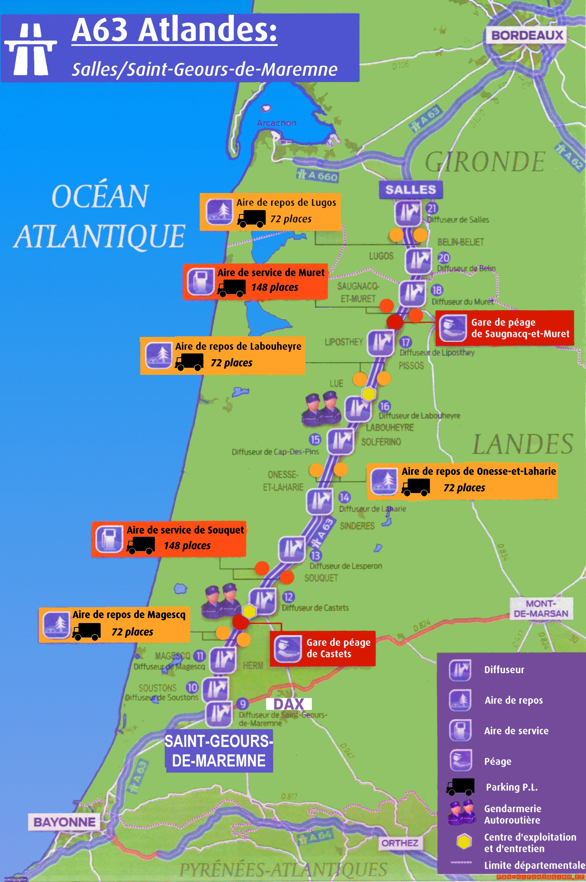A63: Mise en place du péage dès le printemps 2013