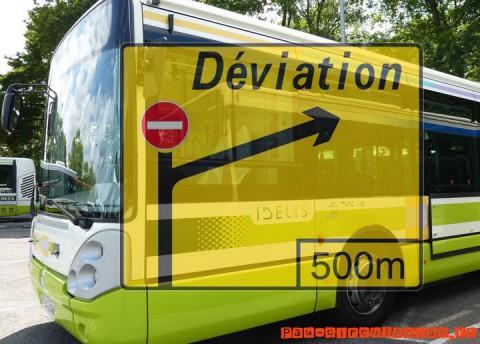 Déviation Idélis ligne P5 à Pau