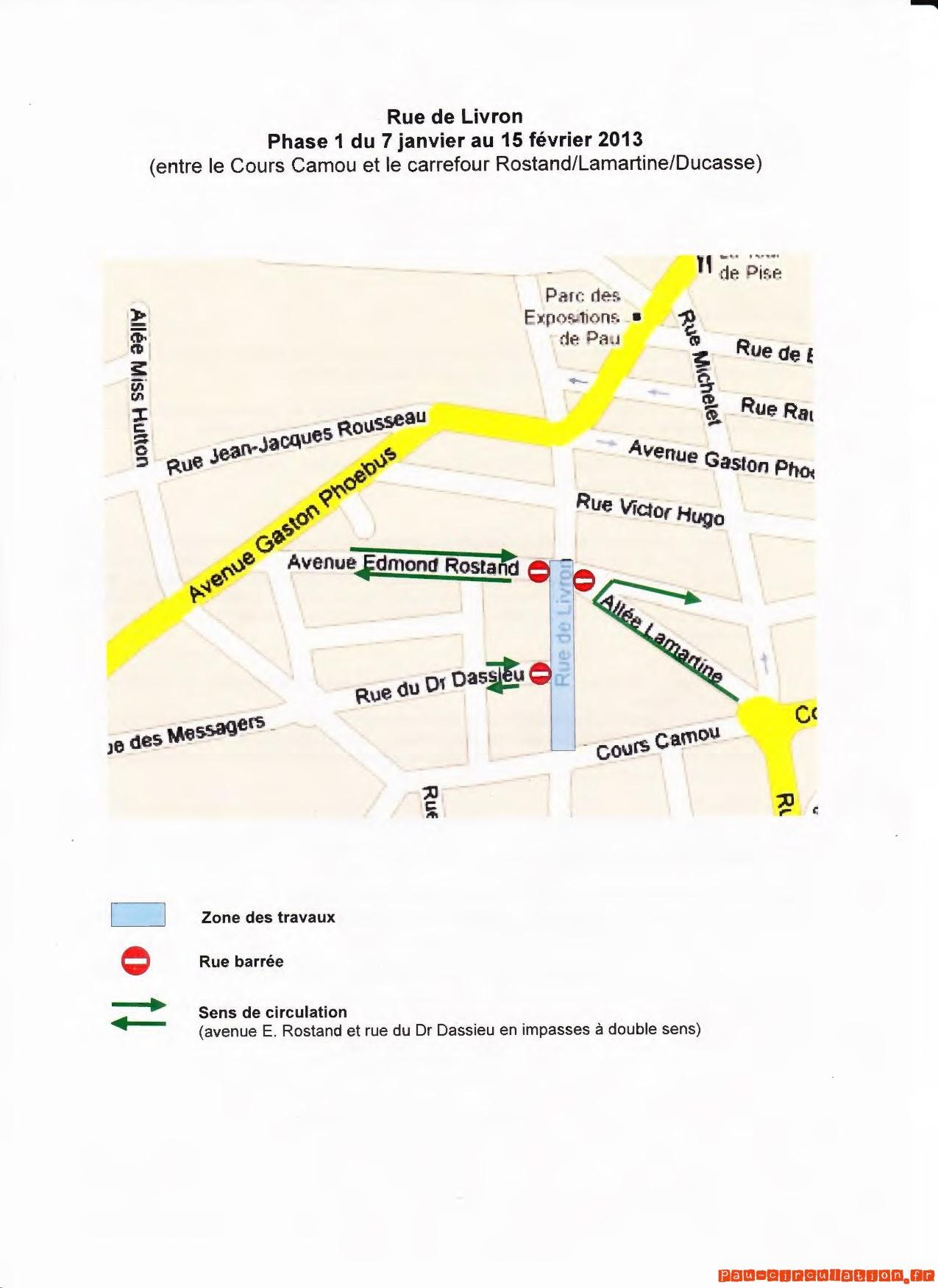 Rénovation Rue de Livron – Phase 01 du 07 janvier au 15 février 2013