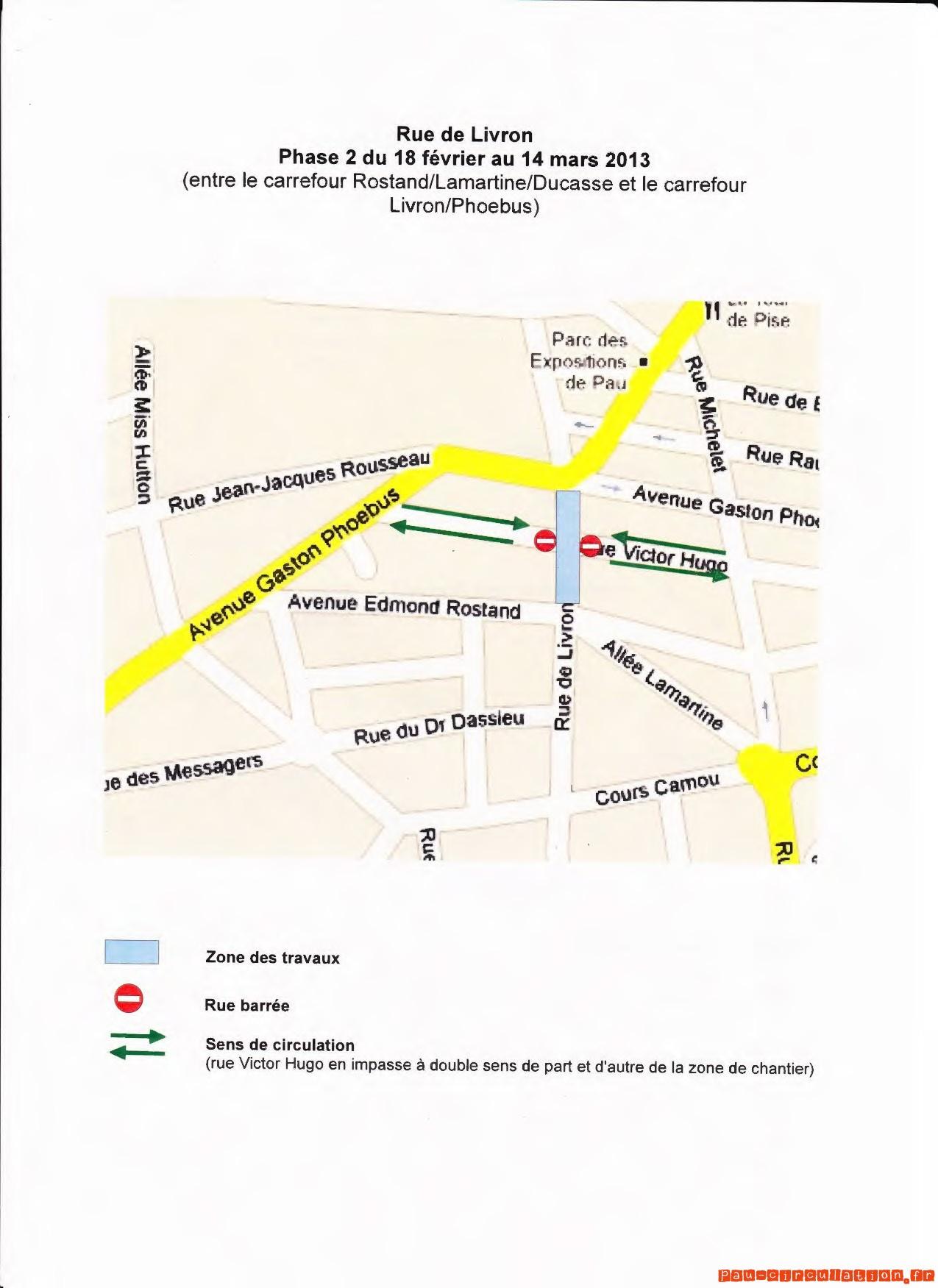 Rénovation Rue de Livron – Phase 02 du 18 février au 14 mars 2013