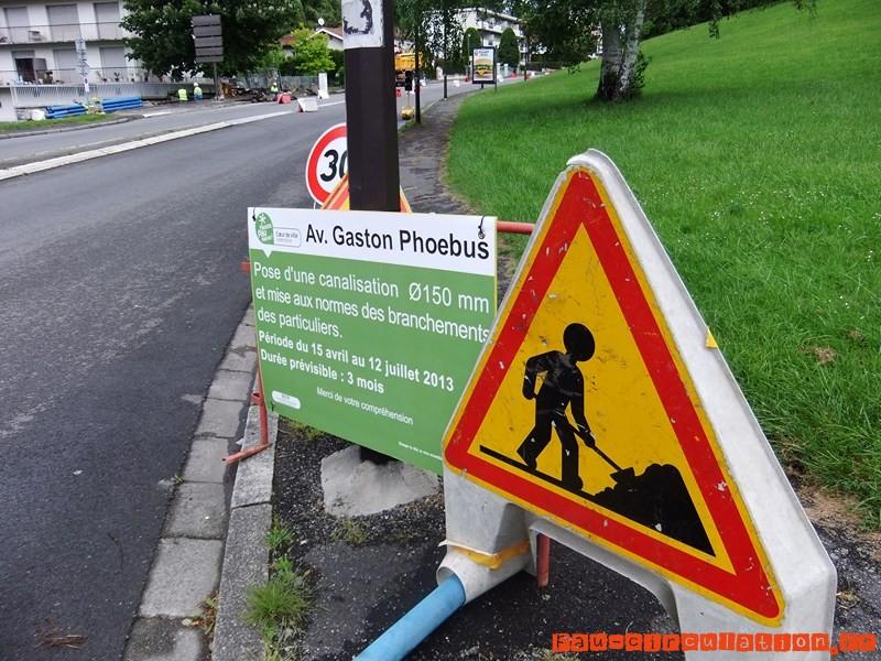 Travaux sur le réseau d'eau potable avenue Gaston Phoebus