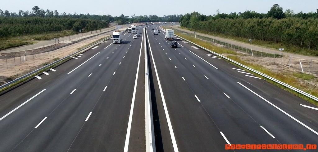 A63 Landes: arrêté interdisant les routes départementales aux poids lourds