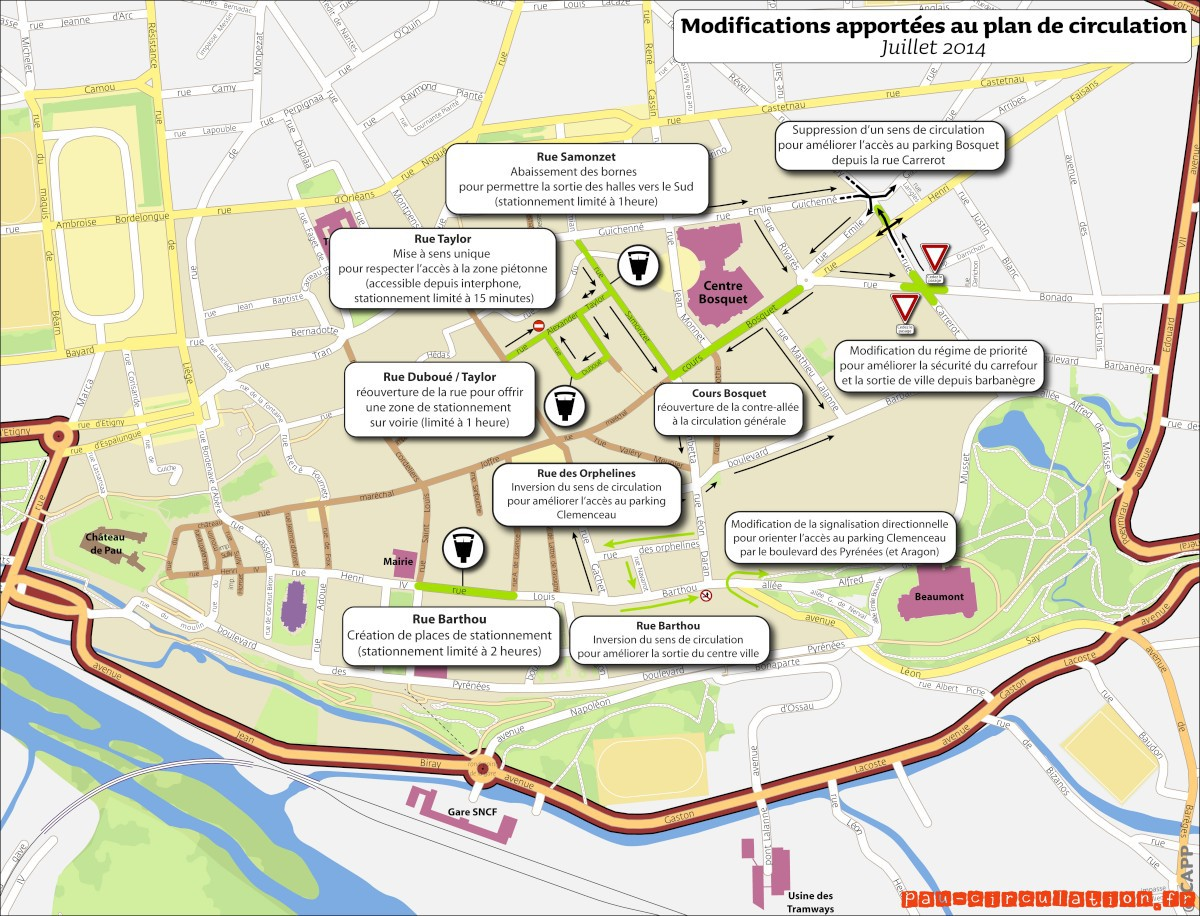 Pau: Centre-Ville nouveau plan de circulation