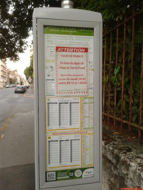 Jeudi matin 24/07/2014 Trafic Bus et Tour de France [Important!]