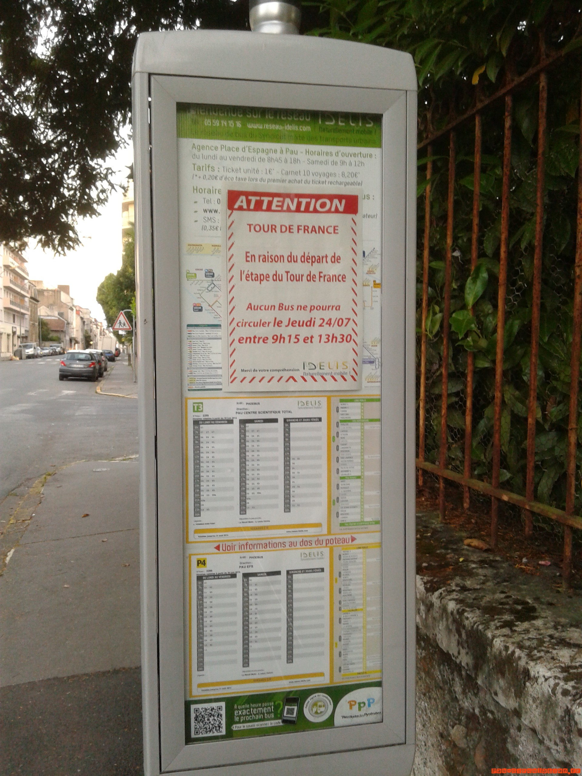 Jeudi matin 24/07/2014 Trafic Bus et Tour de France [Important!]