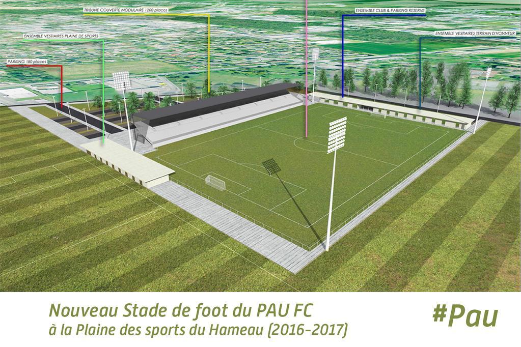 Le Pau FC bénéficiera de son propre stade