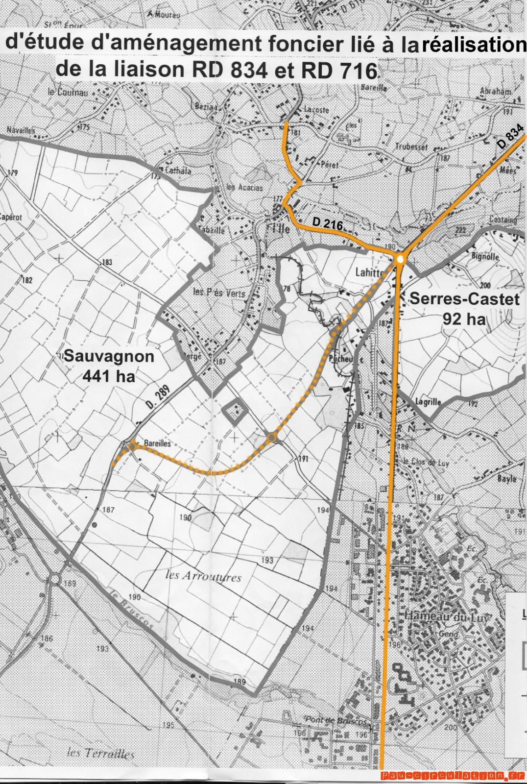Pré-aménagement Hauban de Sauvagnon
