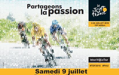Tour de France Pau – ville Départ 09/07/2016
