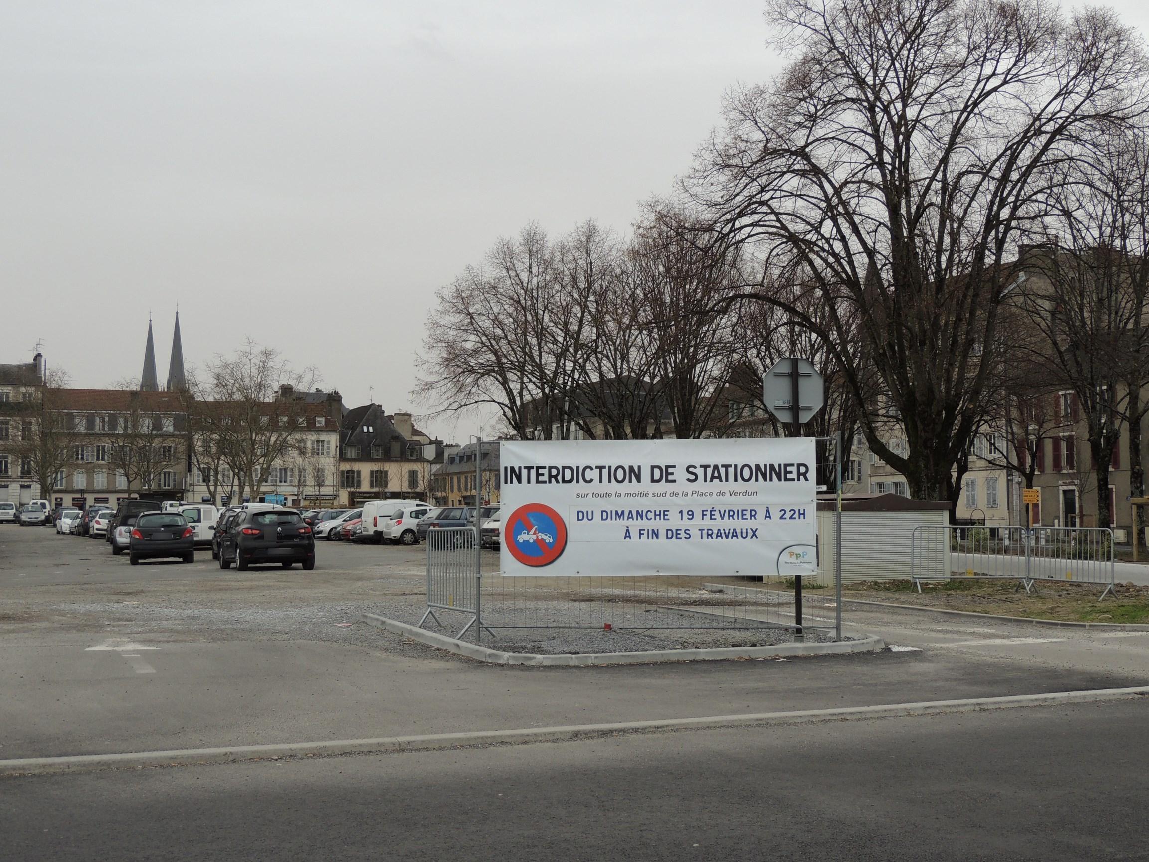Pau, la place de Verdun est en travaux [Phase 6]