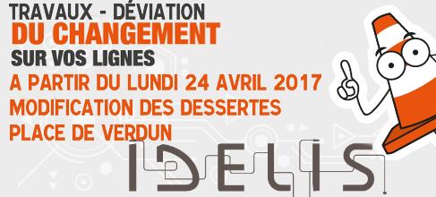 Idélis: les dessertes de la place de Verdun sont modifiées