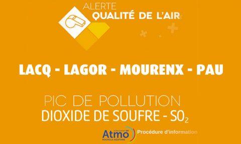 1 Juin 2017 – Alerte pollution SO2