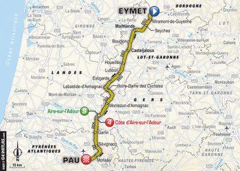 Parcours étape 11 du tour de France Cycliste 2017 - étape 11 | 203.5km | Départ 13h05 (Heure locale) Eymet / Pau