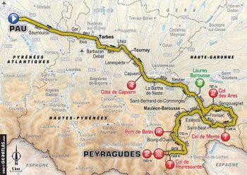 étape 12 | 214.5km | Départ 11h10 (Heure locale) Pau / Peyragudes