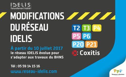 Idélis Bus & Coxitis: dessertes modifiées à partir du 10 Juillet 2017