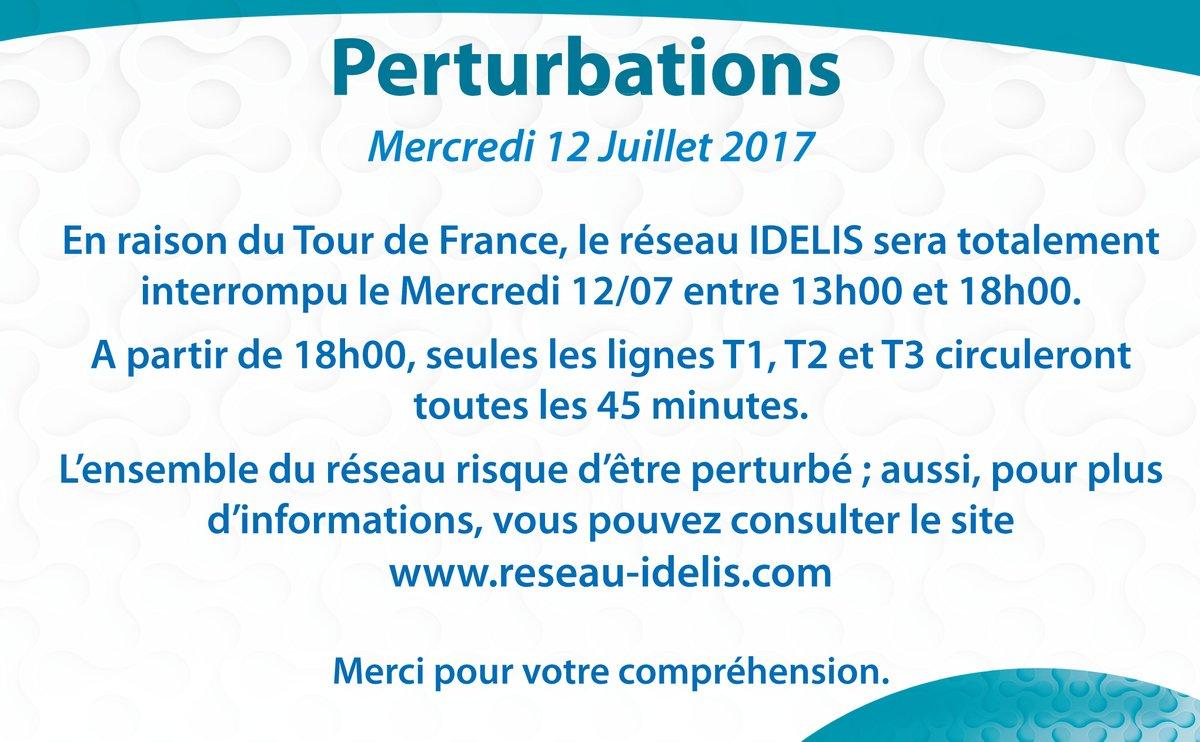 Perturbations Idelis du 12 au 13 juillet 2017