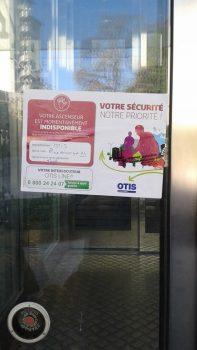 Ascenseur en Panne rue des Cordeliers
