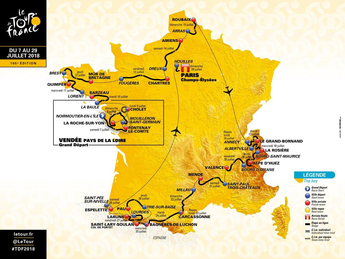Tour de France 2018 – Arrivée à Pau et à Laruns