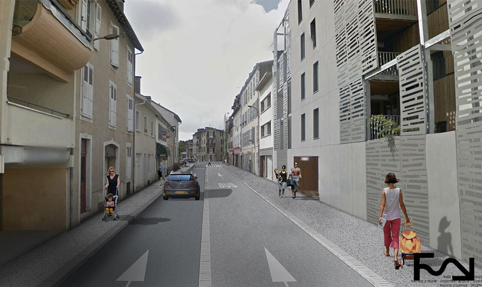 Invitation café chantier FEBUS, projet de BHNS sur Pau