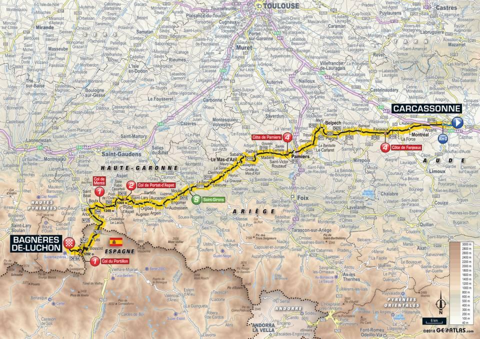Tour De France 2018 – Étape 16 – Carcassonne à Bagnères de Luchon