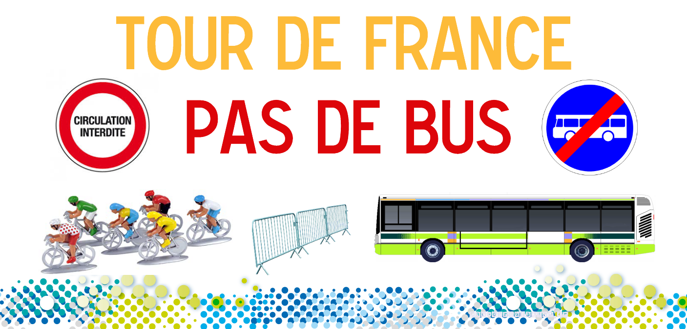 Tour de France – circulation du réseau de bus IDELIS