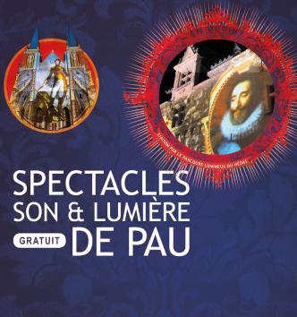 Spectacles gratuits son & lumière de Pau