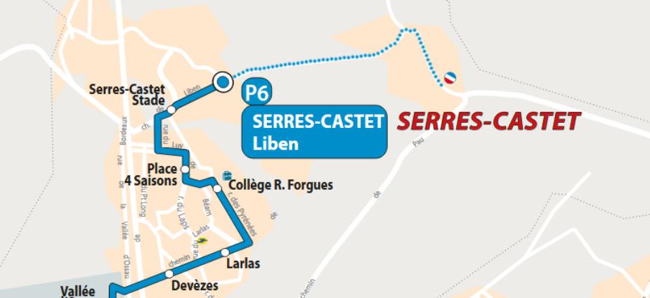 Un bus pour le haut de Serres-Castet