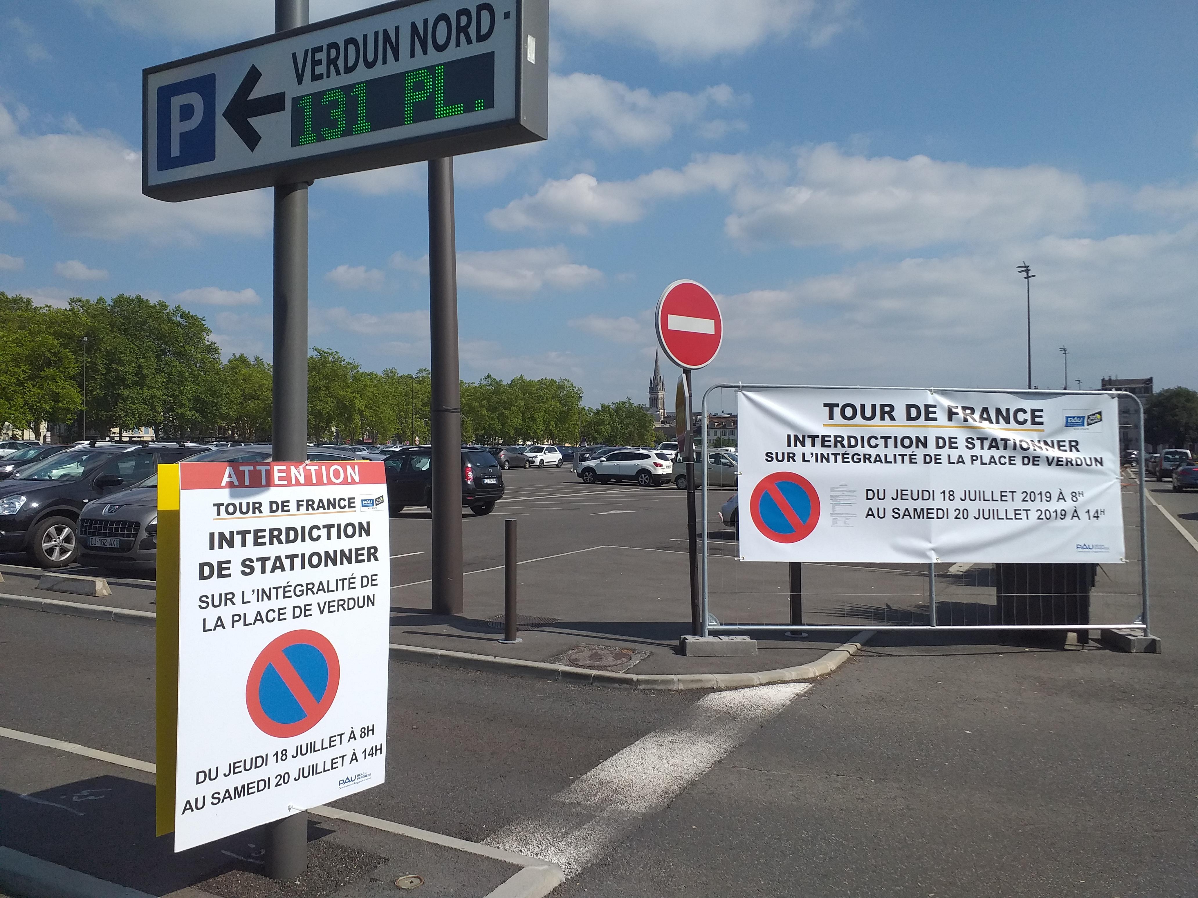 Guide de la circulation et du stationnement pour le tour de France à Pau