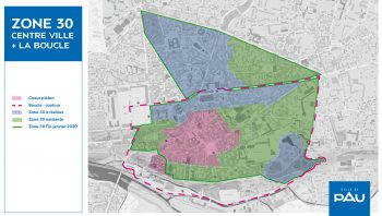 "Carte des extensions ""Zone 30"""